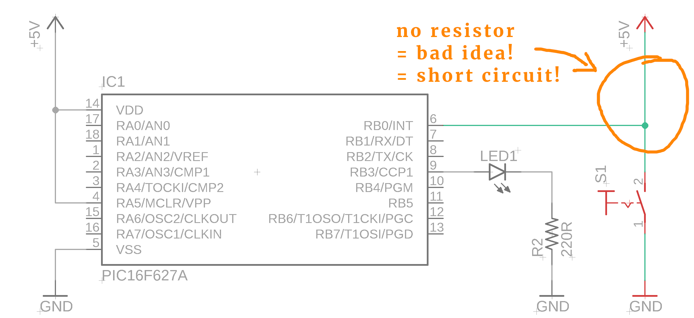 Again The Switch Debounce Circuit Is Easier To See On The Schematic